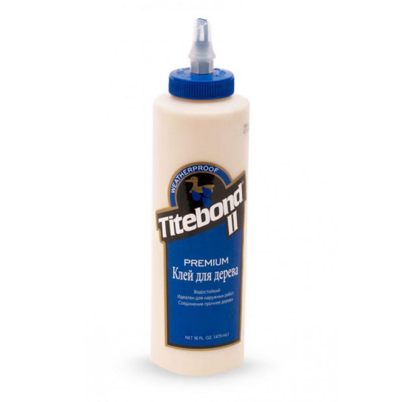 Titebond Клей для дерева Premium II Wood Glue (голубой) 473мл