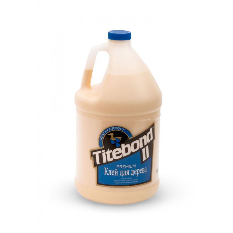 Titebond Клей для дерева Premium II Wood Glue (голубой) 3,78л