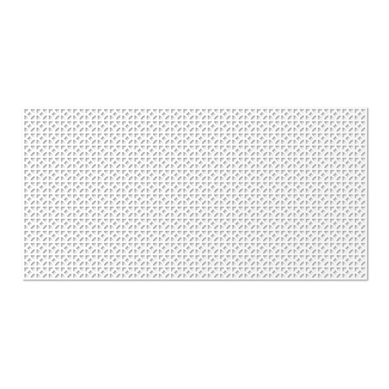Панель декоративная перфорированная Сусанна  Белый  120*60 см
