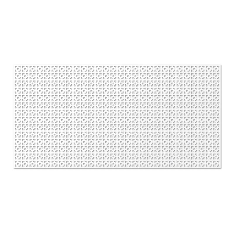 Панель декоративная без рамки  Дамаско Белый (120x60 см)
