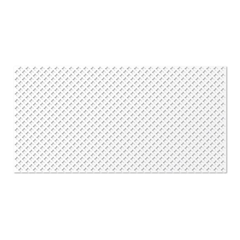 Панель декоративная перфорированная без рамки 120Х60 см глория белый
