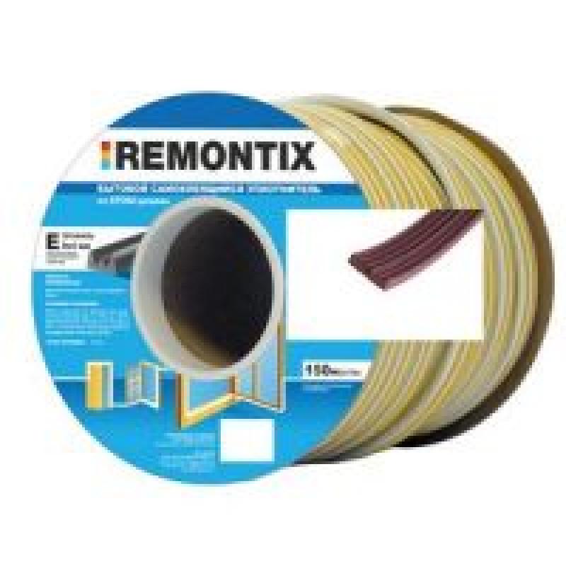 Уплотнитель E-профиль. Remontix бытовой самоклеящийся 9х4 мм. Бобина 75х2 м.